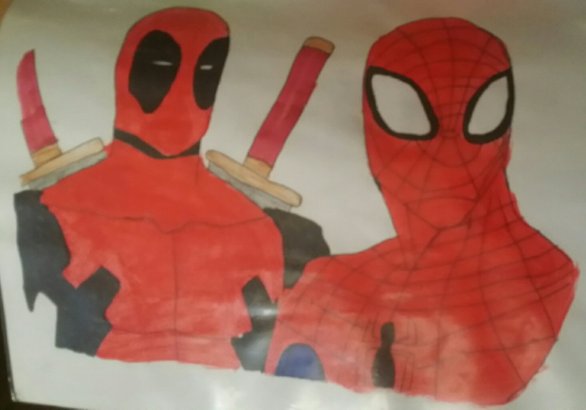 Spider-Man, Deadpool by bruce72